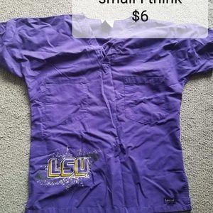 Landau Other - LSU scrub top